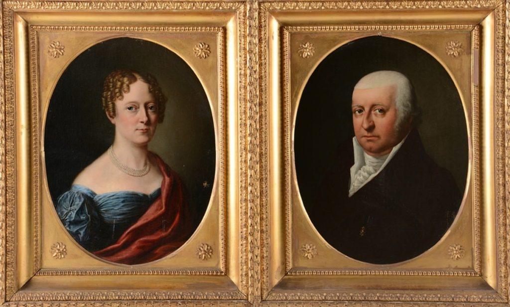 Afb. Het echtpaar Van der Dussen-Neumann. Foto's met dank aan het Notarishuis in Arnhem.