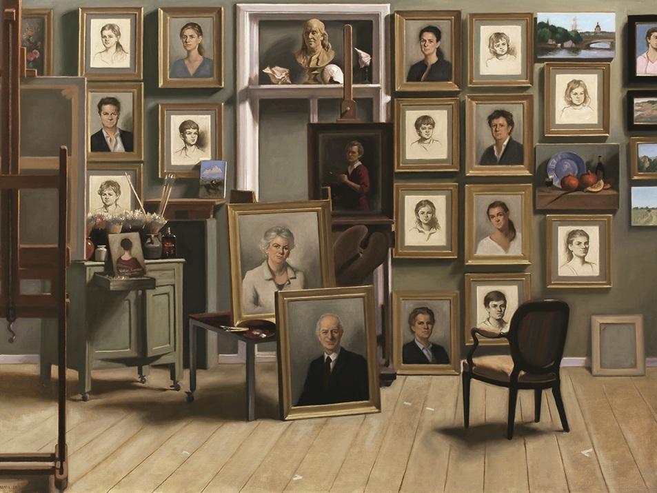 Afb. 1. Urban Larsson, 'Schilderijen van de Familie Brown', 2014, olieverf op doek, privécollectie VS.