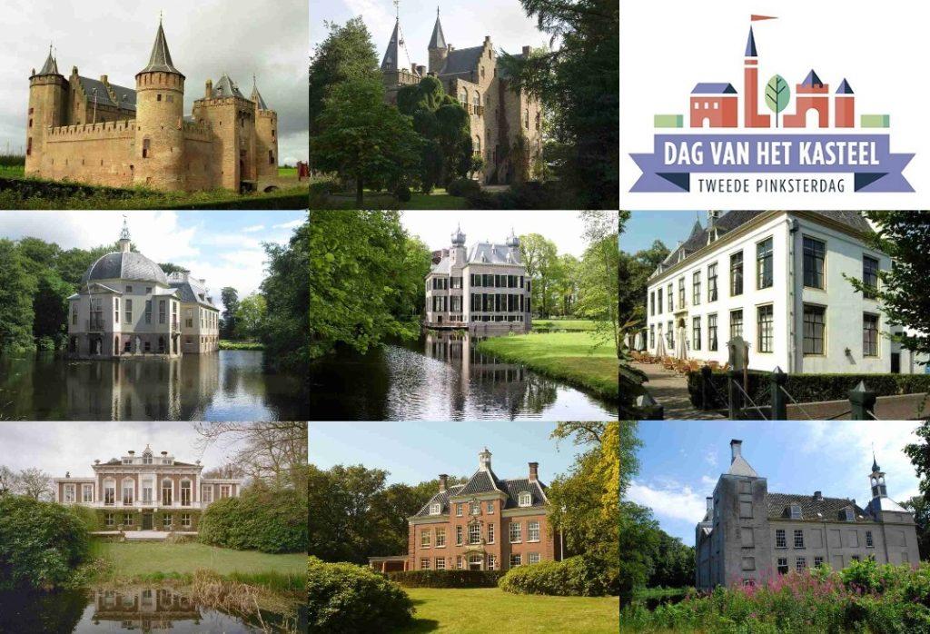 Afb. 1. Enkele voorbeelden van opengestelde kastelen in Noord- en Zuid-Holland op de Dag van het Kasteel. Foto's met hartelijke dank aan www.dagvanhetkasteel.nl.