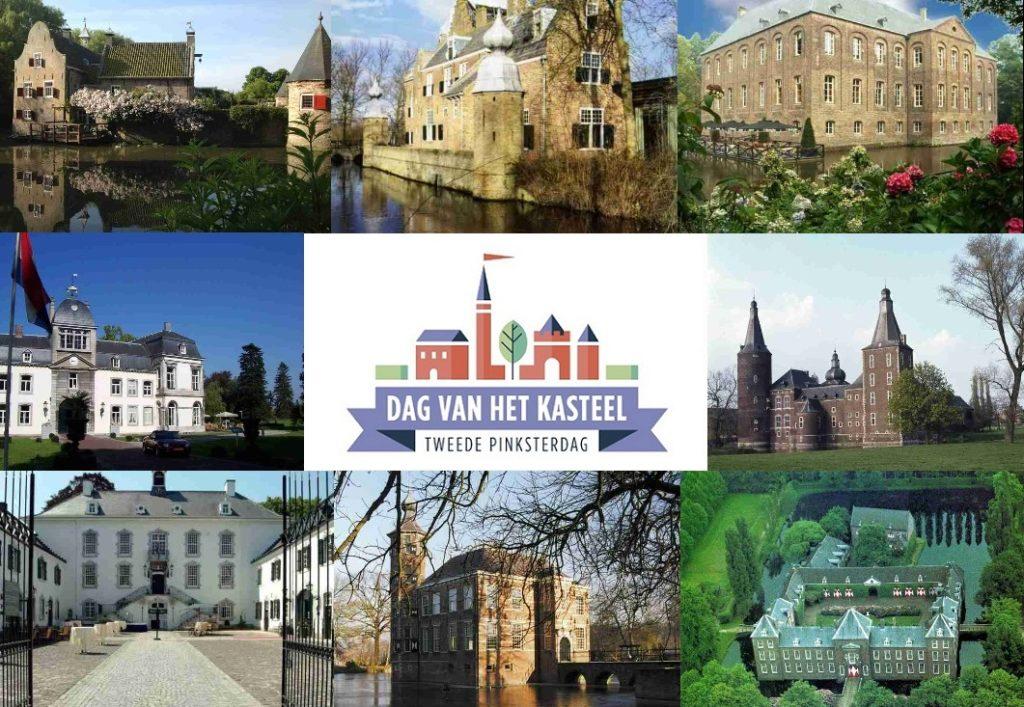Afb. 1. Enkele van de opengestelde kastelen op de Dag van het Kasteel in Zeeland, Noord-Brabant en Limburg. Foto's met hartelijke dank aan www.dagvanhetkasteel.nl.