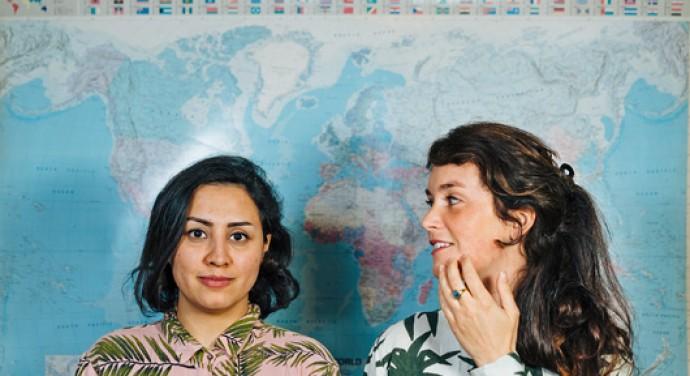 Afb. Zohre Norouzi en Marjolein van Heemstra. Foto met dank aan