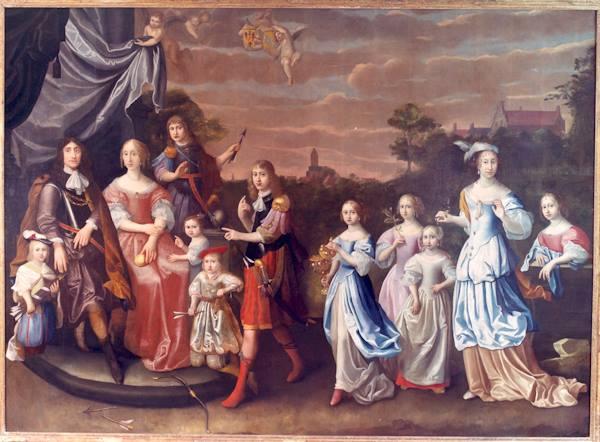 Afb. 2. Groninger glorie: het echtpaar Tjarda van Starkenborgh-Clant in vol ornaat. Portret door Martinus van Grevenbroeck. Foto met dank aan landgoed Verhildersum.