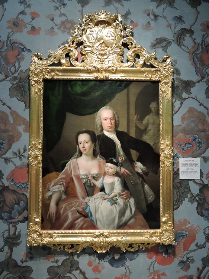 Afb. De dochter en schoonzoon van 'de Koning van Groningen'. Portret in de coll. van het Groninger Museum.