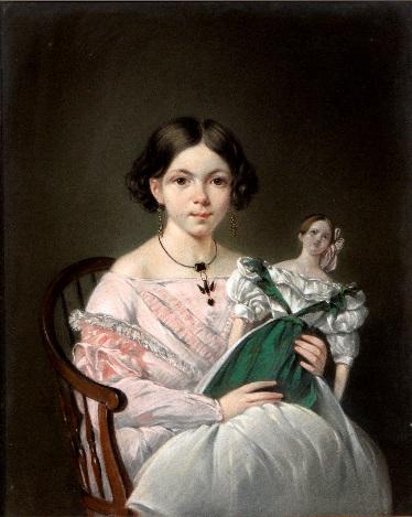 Afb. Juliana Francisca Maria van Tomputte, pastelportret door Jean Augustin Daiwalle (1786-1850), 38,5x31 cm, kavel 128, 600-800 euro.