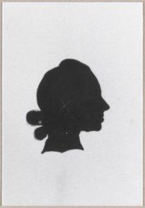 Afb. 2. Mr. Phoenix Izaak Boddaert (1755-1807), die in 1788 Molenwijk kocht. Silhouet door Jacob Perkois. Foto met dank aan het RKD.