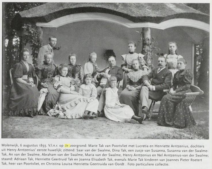 Afb. De bewoners van Molenwijk op Molenwijk in 1893. Foto met hartelijke dank aan Korneel Aschman.