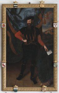 Afb. 1. Goert van Reede (1515-1585), portret op de bovengalerij van kasteel Amerongen.