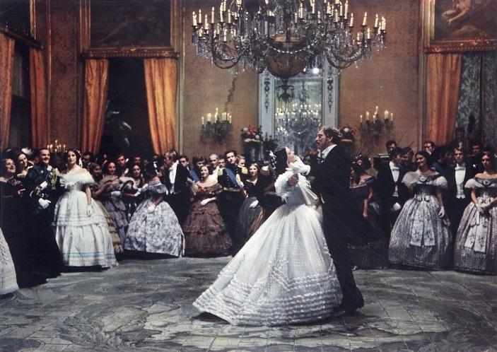 Afb. 2. De balscene, waarin de oude en nieuwe tijd elkaar ontmoeten onder het toeziende oog van de Italiaanse adel.