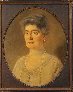 Afb 1. Sophie Adrienne Speelman née barones Sloet van Oldruitenborgh (1860-1941). Portret door Han van Meegeren, geveild in 2011 bij het Zeeuws Veilinghuis.
