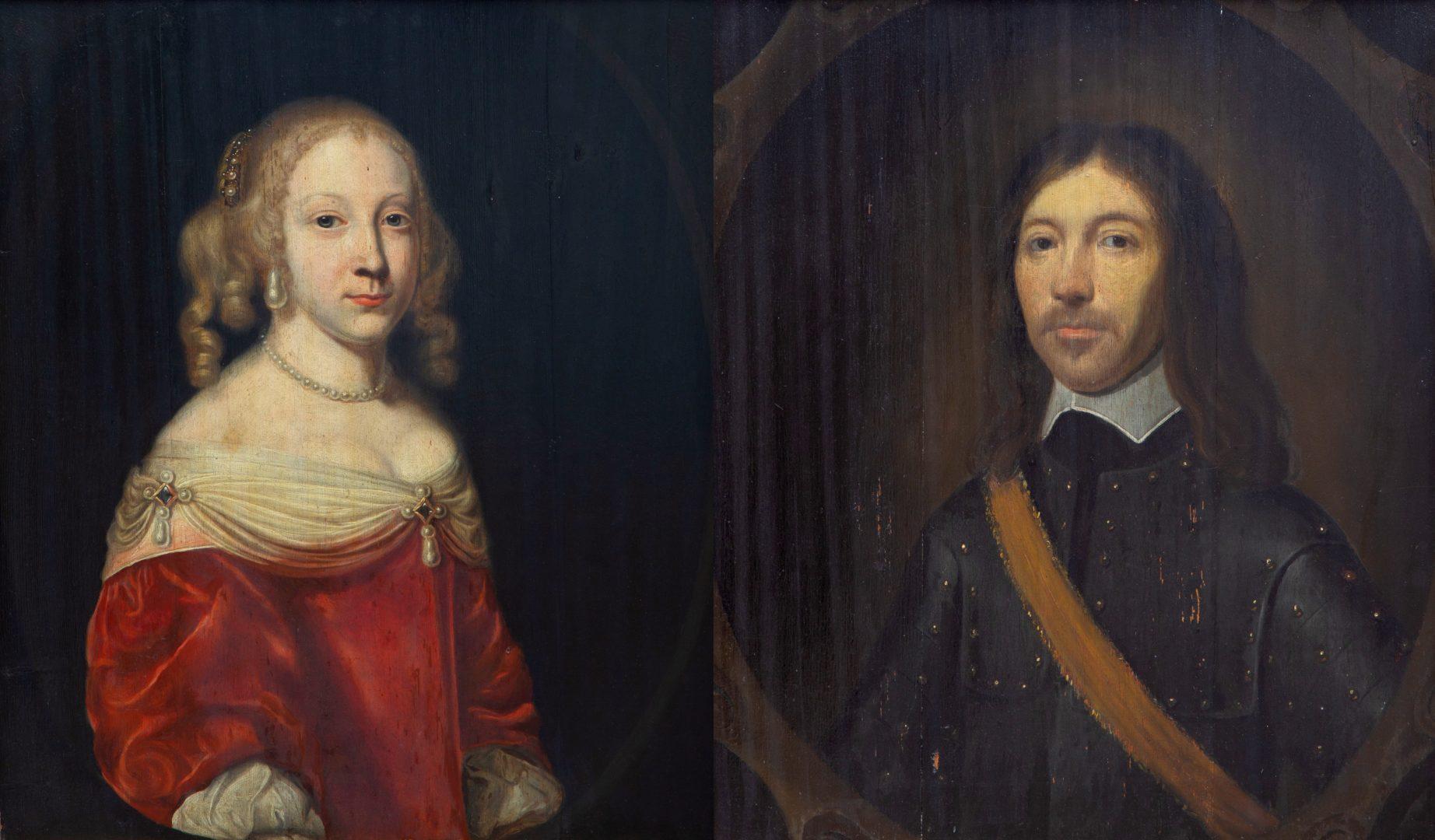 European Fine Art Veiling Venduehuis Den Haag De Portretten Van Vader En Dochter Ripperbant Adel In Nederland
